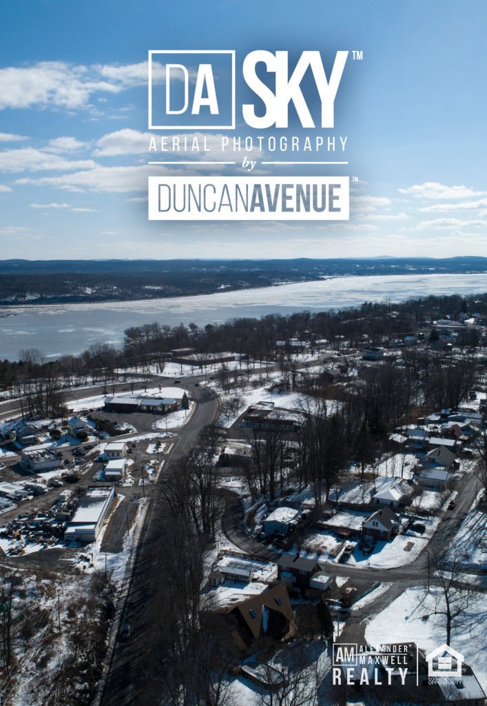 Flying above Kingston - the first capital of New York. Aerial photography by DA SKY Services (Photographer Maxwell Alexander/Duncan Avenue Studio)