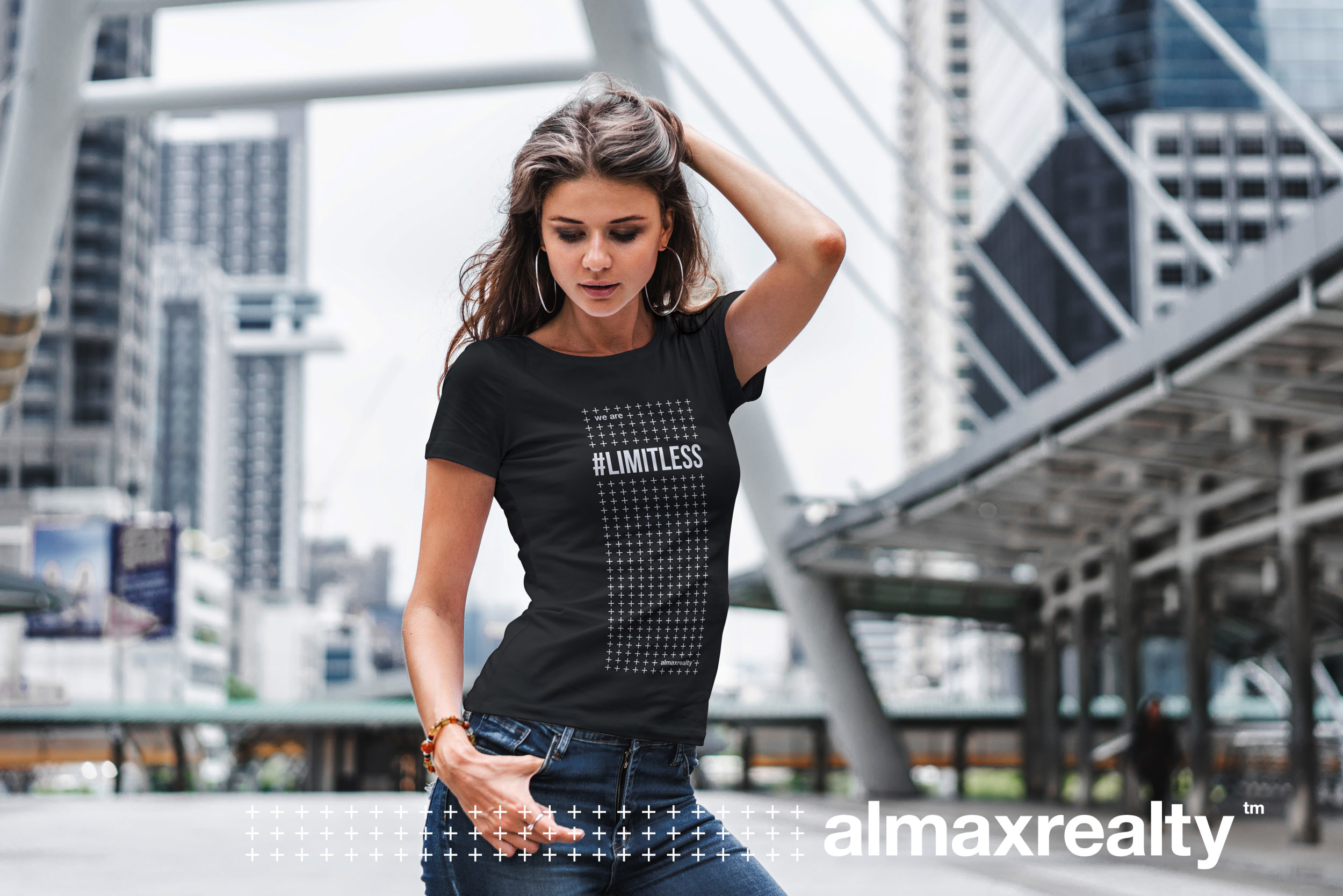 @almaxrealty #moreismore social media and apparel campaign